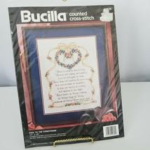 "Bucilla Paul To The Corinthians Counted Cross Stitch Kit 11""x14"" Vintage... - $17.82"