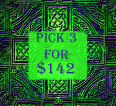 WED-THURS PICK ANY 3 FOR $142 DEAL BEST OFFERS DISCOUNT MAGICK  - $56.80