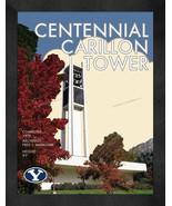 "BYU ""Centennial Carillon Tower"" 13 x 16 Art Deco Framed Print  - $39.95"