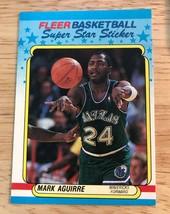 1988-89 Fleer Super Star Sticker MARK AGUIRRE  Mavericks #1 - $0.98