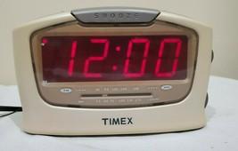 Timex Alarm Clock Radio AM/FM White Model T254W Large JUMBO Red LED Disp... - $15.75