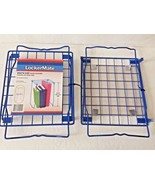 "X2 Blue Lockermate Extra Tall Stackable Metal Shelf Shelves Storage 12"" ... - $39.99"