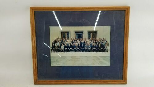 Vintage June 1972 Framed Group Photograph US Attorney Courthouse Lawyer Legal