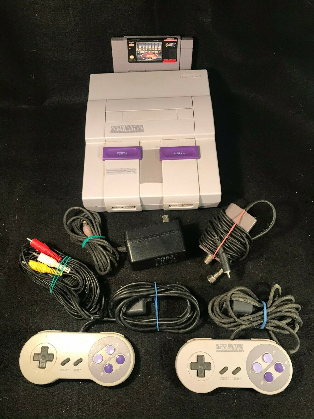 Primary image for OEM Nintendo SNES Game Console Complete w/Game Ready To Play