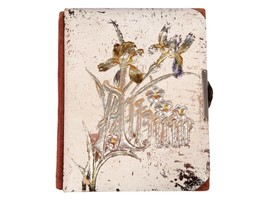 FREE SHIP: Antique Vintage Victorian Photo Album - Celluloid Book with I... - $35.06