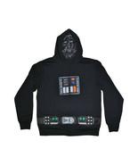 Men's Disney Star Wars Darth Vader Full Zip Sweatshirt Hooded Hoodie Cos... - $29.69