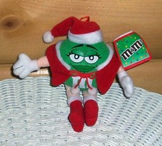 """M & M's Candy 7"""" Ms. Green Plush in Santa Cape, Hat & Boots - $4.89"""