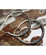 925 Silver 30mm Balinese Hoop Earrings SE-305-DG - $18.95