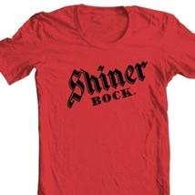 Shiner Bock T-shirt German beer 100% cotton printed gold graphic printed tee image 1