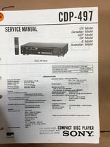 Sony CDP-497 Service Manual *Original* - $8.60