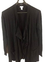 Chicos Women's Size 2 Large Open Front Cardigan Sweater Long Sleeve Rayo... - $12.23