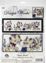 "Design Works Counted Cross Stitch Kit 4""X14""-Kitty Row (14 Count) - $19.41"