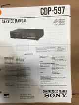 Sony CDP-597 Service Manual *Original* - $8.60