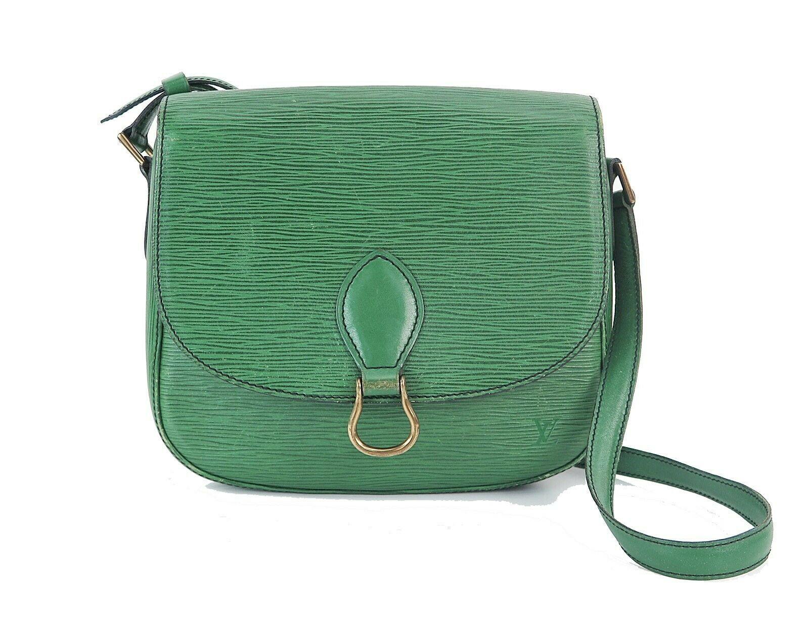 Auth Vintage LOUIS VUITTON Saint Cloud GM Green Epi Leather Shoulder Bag #28844