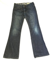 Gap 8 Jeans Blue Mid Rise Boot Cut Dark Wash Cotton Stretch Womens  - $5.24
