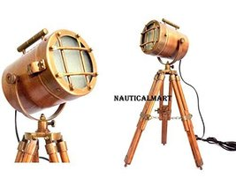 NauticalMart Vintage Decorative Marine Table Lamp Nautical Royal Wooden Tripod   - $199.00