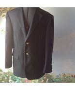 Stafford Men's Blazer Navy Blue Blazer 40S Gold Tone Buttons Sport Coat ... - $34.64
