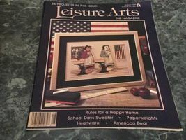 Leisure Arts Magazine August 1989 Moments Pt 1 - $1.79
