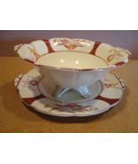Hotta Yushoten & co. China white mayonnaise bowl w/ underplate circa 192... - $20.00