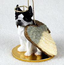 BOSTON TERRIER ANGEL DOG CHRISTMAS ORNAMENT HOLIDAY Figurine Statue - $12.98