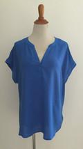Gap Blue Cap SLeeve V-Neck Blouse sz Medium New NWT - $16.82