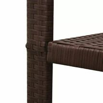 vidaXL Outdoor Rocking Chair Table 3 Piece Poly Rattan Brown Garden Furniture image 6