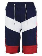 LR Men's Urban Streetwear Cotton Striped Casual Gym Drawstring Sweat Shorts image 5