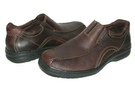 ❤️CLARKS Sherwin Time Brown Tumbled Leather Slip-On Loafer 10.5 M NEW! L... - $46.54