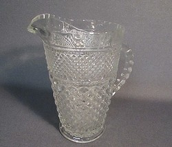 Vintage Wexford Pitcher Diamond Pattern Clear Crystal Cut Glass  Excellent! - $20.00