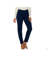 Women with Control Petite Tummy Control Slim Leg Ankle Pants in Marine N... - $32.66