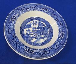 Vintage Homer Laughlin Blue Willow Soup Bowl Cereal USA Made Asian Pagoda - $10.88