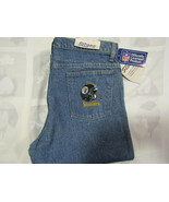 SLogos NFL Pittsburgh Steelers Denim Blue Jeans 34 X 34 Made USA Heavy N... - $74.99