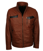 Brown Biker leather Jackets for Men - Mens Brown Leather Motorcycle Jack... - $139.00+