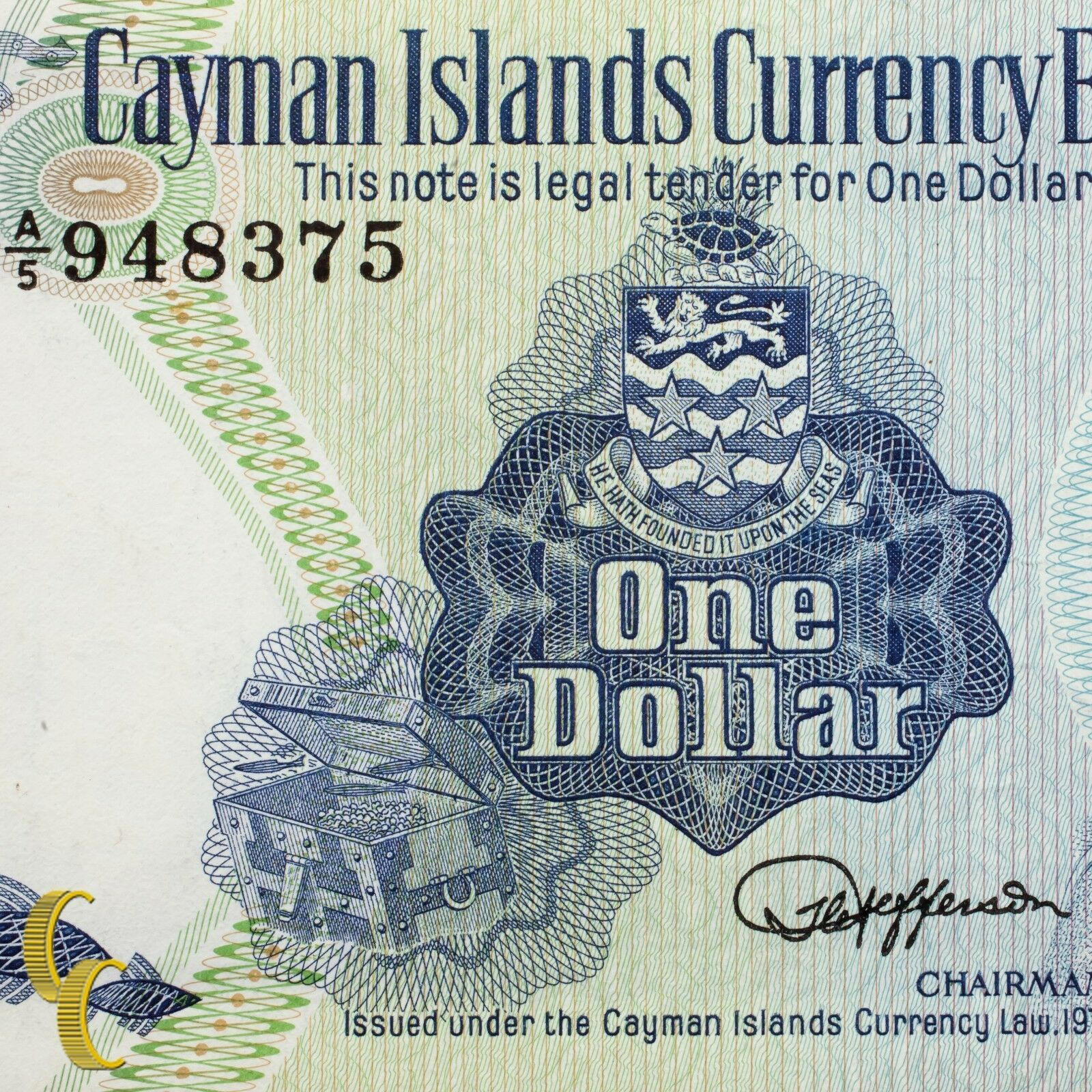 1974 Cayman Islands Moneda Board (Au ) About que No Ha Circulado Estado