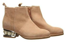 Jeffrey Campbell Women's Orlando Faux Pearl Suede Boot Booties Ankle Boots Sz 6 - $82.79