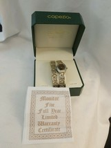 Vintage Capezio Ashley Fields Ladies Quartz Watch and Bracelet - Silver Tone - $7.87