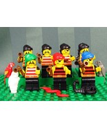 Lego Lot Of 7 Pirates With Weapons and Rag Wrap Hats - $39.75
