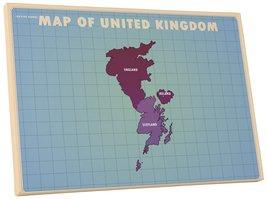 "Pingo World 0127QA68GCS ""Map of United Kingdom Upside Down"" Gallery Wrapped Canv - $43.51"