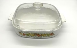 Corning Ware USA Spice of Life A-10-B 10x10x2 InchCasserole A-12-C Lid VTG - $38.69