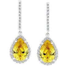 Canary Cubic Zirconia Drop Earrings - $40.00