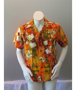 Vintage Hawaiian Aloha Shirt - Psychedelic Floral Pattern by Likeke - Me... - $69.00