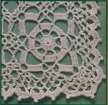 4X Wagon Wheel Lace Rosettes Leaf Flower Tablecloth Crochet Pattern image 2