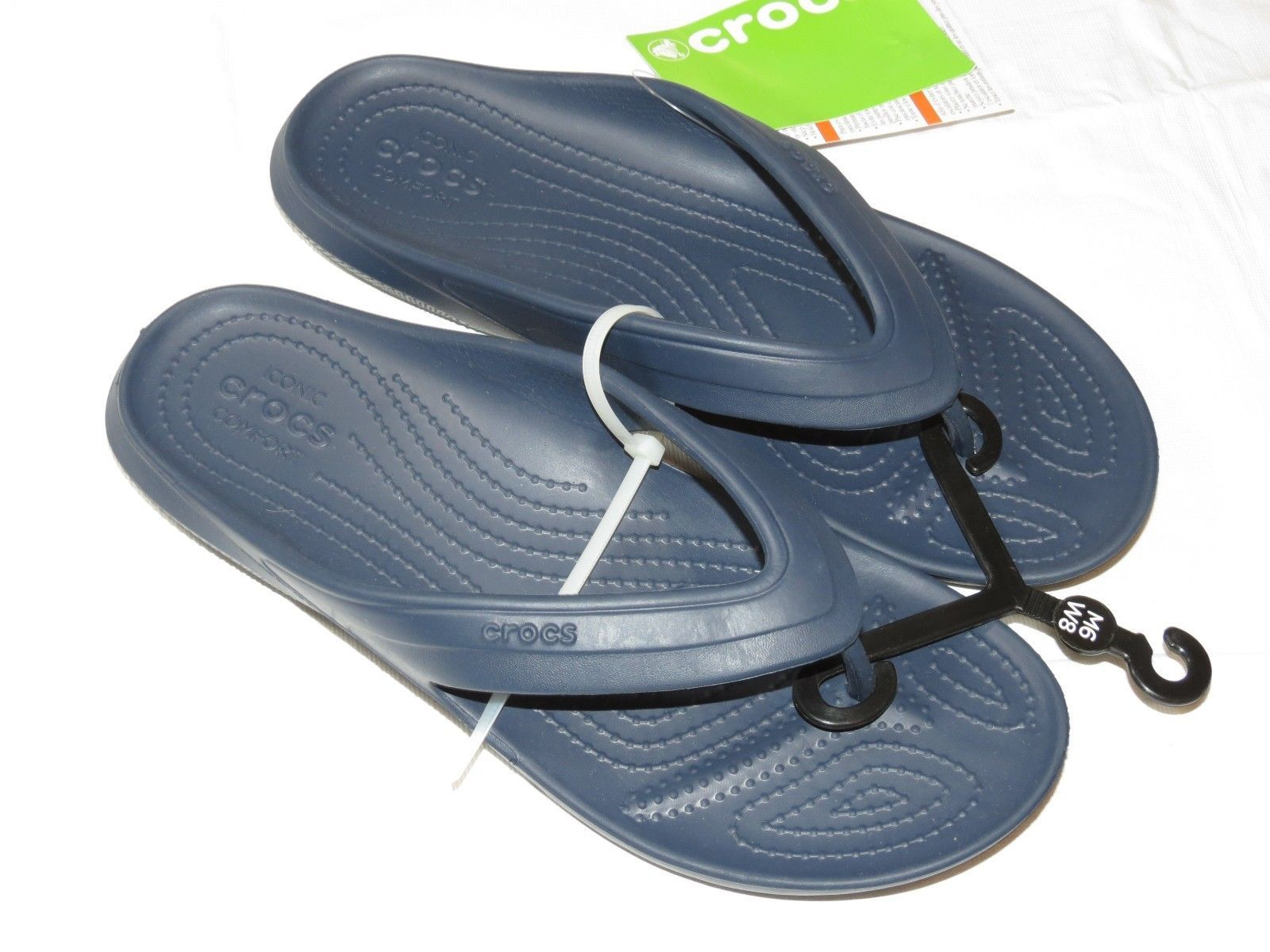 fddecf7d3 Crocs Classic Flip Navy Blue relaxed Unisex and 22 similar items. S l1600