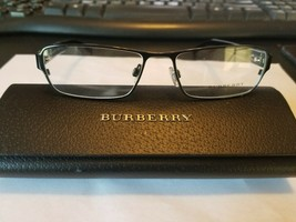 New Burberry B1213 1010 Black Eyeglasses Glasses 54-16-135 B29mm Italy W/ Case - $88.11