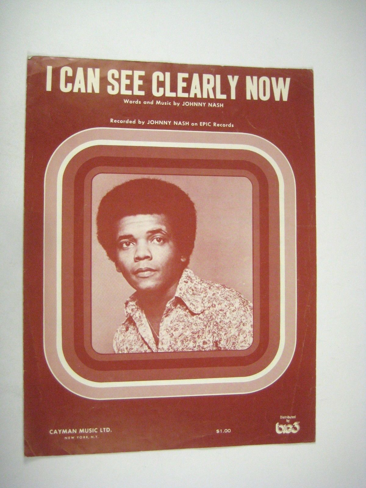 I Can See Clearly Now Sheet Music Johnny Nash 1972