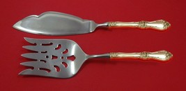 Royal Rose by Wallace Sterling Silver Fish Serving Set 2 Piece Custom Made HHWS - $127.40