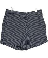 Sandro Dress Shorts 10 Chino Printed Cotton Black White Pockets Casual W... - $36.66