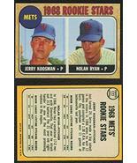1968 Topps #177 NOLAN RYAN Rookie Card Mets HOF REPRINT - Baseball Card - $4.70