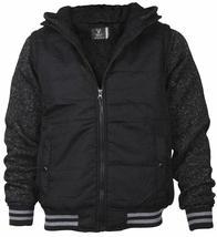 Vertical Sport Men's Sherpa Fleece Lined Two Tone Zip Up Hoodie Jacket image 8