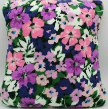 Fleece Travel Blanket Vera Bradley Cuddly Pillow Trolley Sleeve Flower G... - $32.66